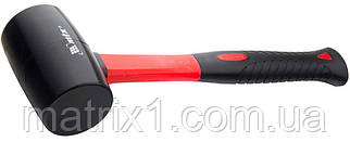 Киянка резиновая, 450 г, черная резина, фибергласовая рукоятка// MTX