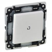Механизм выключателя 1-клавишного с безвинтовыми зажимами 10A с подсветкой 0,15мА IP44 белый 752161 Legrand Valena Life