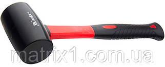 Киянка резиновая, 680 г, черная резина, фибергласовая рукоятка// MTX