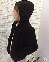 Женская короткая куртка с капюшоном. Материал вельвет. Размер см, мл.