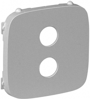 Лицевая панель аудио розетки алюминий 755287 Legrand Valena Allure