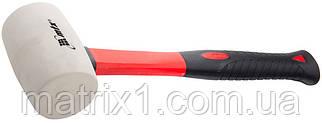 Киянка резиновая, 450 г, белая резина, фибергласовая рукоятка// MTX