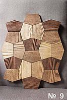 Деревянная 3D мозаика - по эскизам клиента