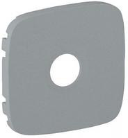 Лицевая панель телевизионной TV розетки алюминий 754767 Legrand Valena Allure