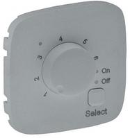 Лицевая панель термостата для теплых полов с датчиком алюминий 755327 Legrand Valena Allure