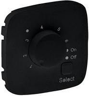Лицевая панель термостата для теплых полов с датчиком черная 755328 Legrand Valena Allure
