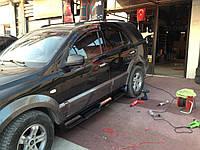 Kia Sportage 2004-2010 гг. Боковые пластиковые площадки S002 (пластик)