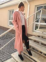 Женское пальто с карманами под пояс. Ткань с ворсом на подкладе. Размер: см, мл.