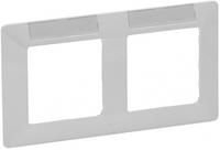 Рамка 2 поста с держателем для маркировки белая 754012 Legrand Valena Life