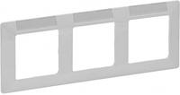 Рамка 3 поста с держателем для маркировки белая 754013 Legrand Valena Life