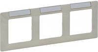 Рамка 3 поста с держателем для маркировки слоновая кость 754053 Legrand Valena Life