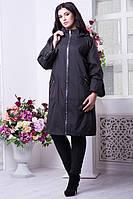 Женский черный плащ  SO-10579-BLK Caramella 54-68 размеры