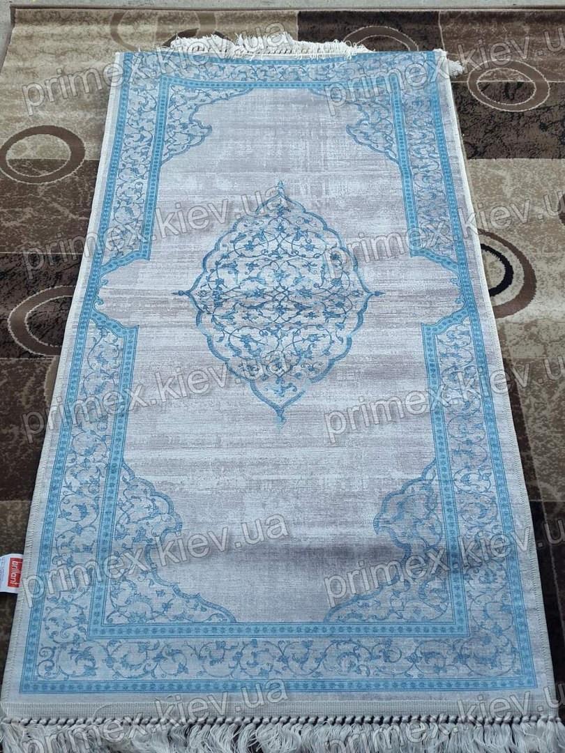 Килим Latex Sharm, колір біло-блакитний