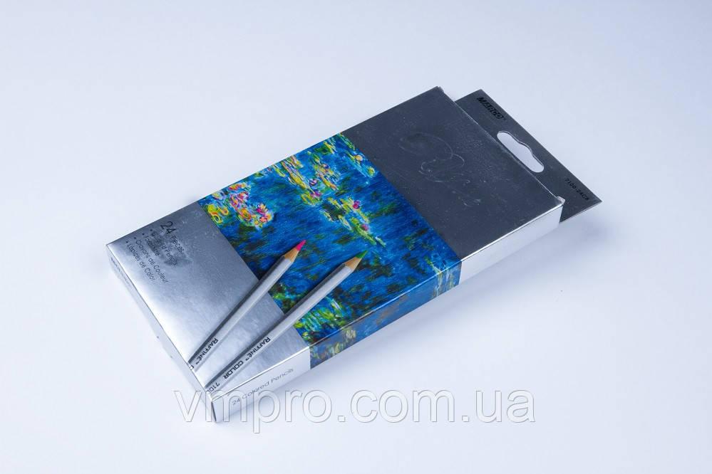 "Карандаши цветные ""MARCO"" Raffine,№7100-24CB (24 цвета)"