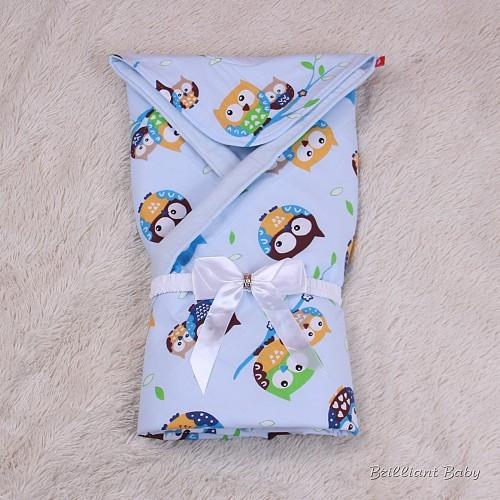 """Демисезонный конверт-одеяло для новорожденных """"Valleri """" (совенок)"""