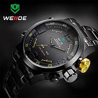 Мужские кварцевые часы WEIDE Sport Watch WH-2309 желтые