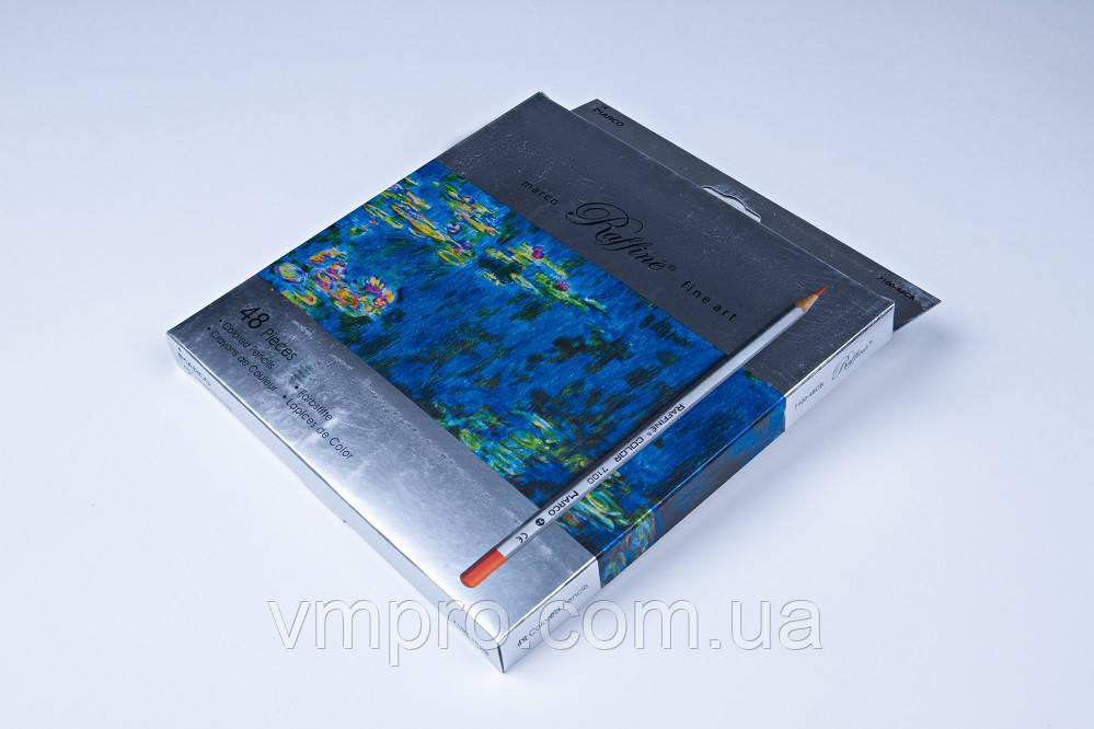 """Олівці кольорові """"MARCO"""" Raffine,№7100-48CB (48 кольорів)"""