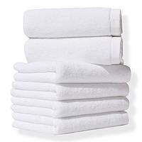 Полотенце махровое отельное белое 450 гр/м2 (20/2) 50*90