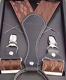 Підтяжки шовкові коричневі Paolo Udini, фото 4