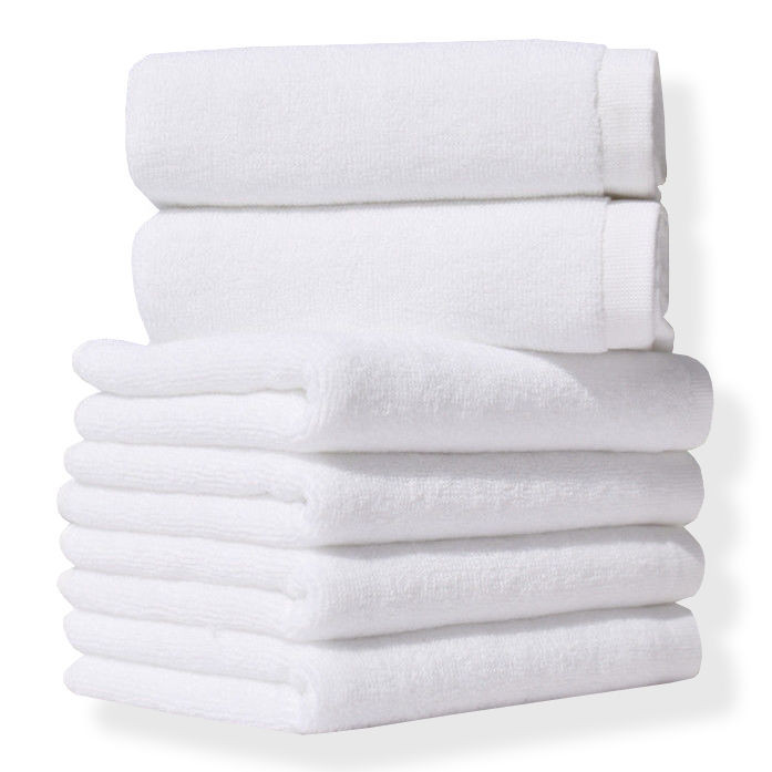 Полотенце махровое отельное белое Lotus 450 гр/м2 (16/1) 70х140 оптом