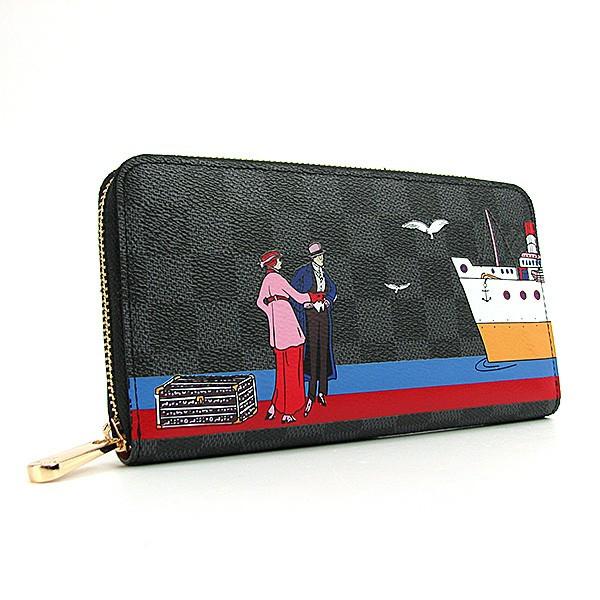 Кошелек женский экокожа на молнии черный Louis Vuitton 62135, ... f82045414ce
