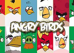 Картина 60х40 см Злые птицы Логотип