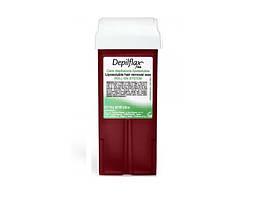 Воск касcетный, широкий валик-Красное вино (110мл) Depilflax