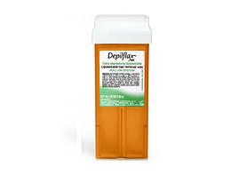 Воск касcетный, широкий валик-Морковь (110мл) Depilflax