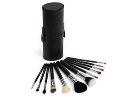 Набор натуральных кистей для макияжа-черный (12шт/уп) MAC NEW в тубусе