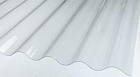 Шифер ПВХ Volnoplast волновой 1,5*20 м. прозрачный (30 м2), фото 1