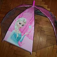 Зонт детский прозрачный  Холодное сердце, фото 1