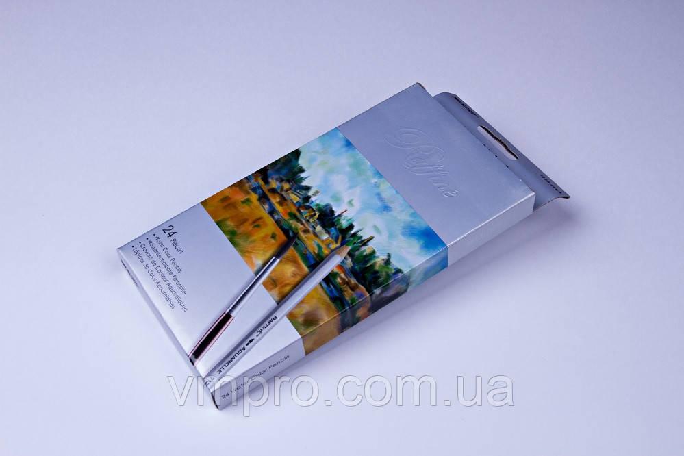 """Акварельні олівці кольорові """"MARCO"""" Raffine,№7120-24CB,(24 кольори)"""