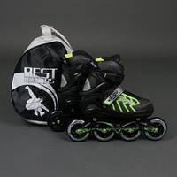 """.Ролики 9015 """"L"""" Green - Best Rollers /размер 39-42/ (6) колёса PU, без света, d=9см"""