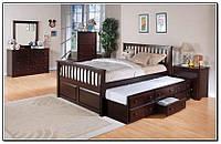 Односпальная кровать с ящиками - Дантес