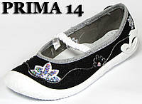 Удобные текстильные мокасины для девочек пр-во 3F Польша мод. Прима 14 р. 31-36