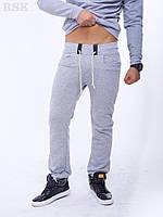 Мужские штаны Спортивные Мино серые с карманами , спортивные штаны