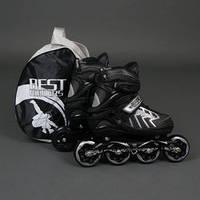 ".Ролики 9015 ""M"" Gray - Best Rollers /размер 35-38/ (6) колёса PU, без света, d=8.4см"