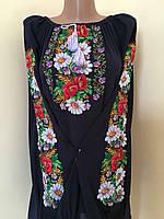 Вишита блуза з квітковим орнаментом машинна вишивка bbe2bb1798f88