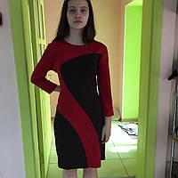 Платье женское весна-осень деловое красное офисное нарядное  S.Oliver