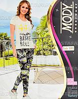 Женский комплект футболка+лосины Турция. MODY 6965. Размер 44-46.