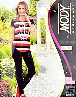 Женский комплект футболка+лосины Турция. MODY 6956. Размер 44-46.