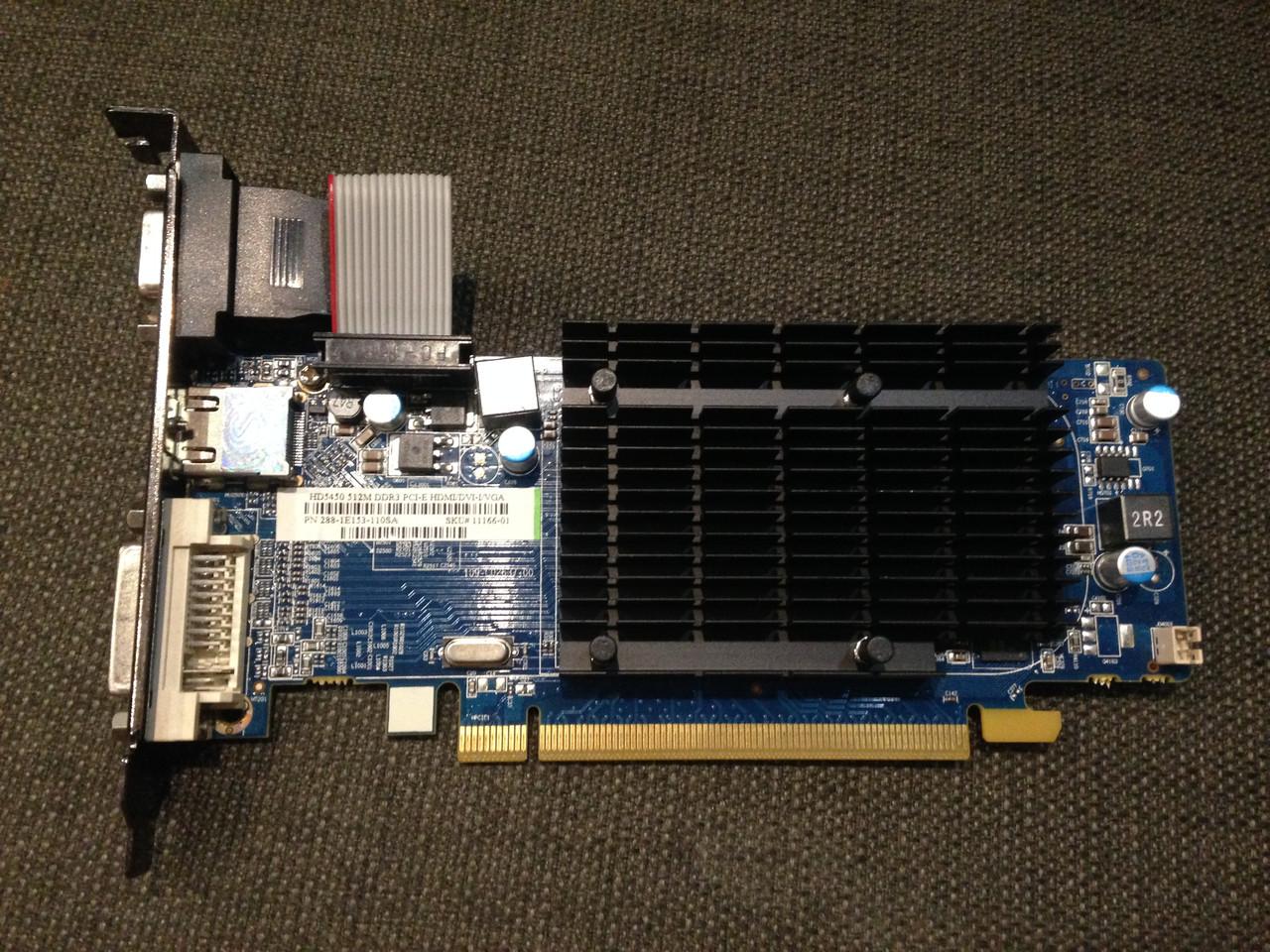 ВИДЕОКАРТА Pci-E RADEON c HDMI : HD 5450 на 512 MB  DDR3 с ГАРАНТИЕЙ ( видеоадаптер HD5450 512mb  )