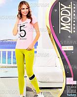 Женский комплект футболка+лосины Турция. MODY 6949. Размер 44-46.
