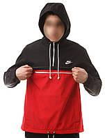 Анорак Nike, черно-красный