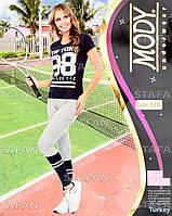Женский комплект футболка+лосины Турция. MODY 6944. Размер 44-46.
