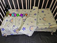 Постельный набор в детскую кроватку (3 предмета) Мишки в гамаке бирюзовый