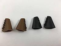 Концевики для шнурков кожаные черные