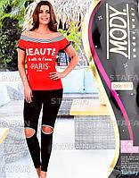 Женский комплект футболка+лосины Турция. MODY 6916. Размер 44-46.