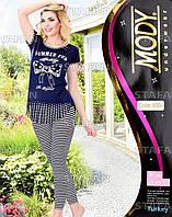 Женский комплект футболка+лосины Турция. MODY 6904. Размер 44-46.
