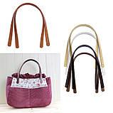 Ручки для сумки Коричневые темные кожа прес 55 см, фото 2